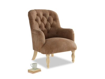 Flump Armchair in Walnut beaten leather