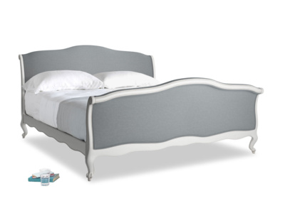 Superking Antoinette Bed in Scuffed Grey in Dusk Vintage Linen