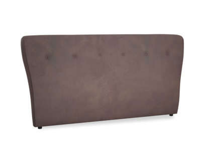 Superking Smoke Headboard in Dark Chocolate beaten leather