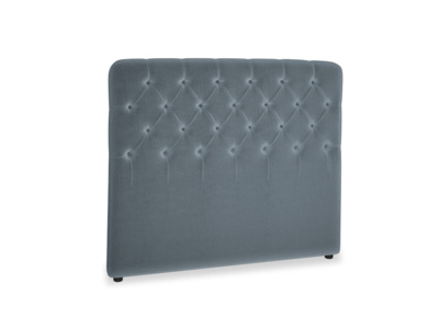 Double Billow Headboard in Mermaid plush velvet