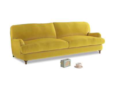 Large Jonesy Sofa in Bumblebee clever velvet