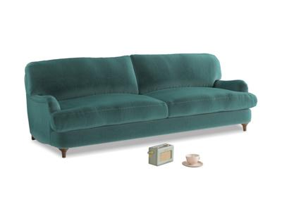 Large Jonesy Sofa in Real Teal clever velvet