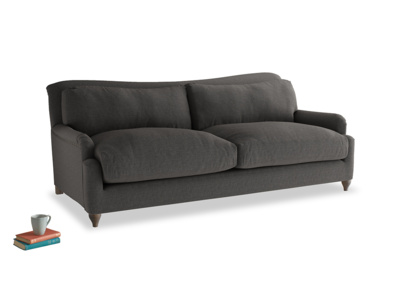 Large Pavlova Sofa in Old Charcoal brushed cotton