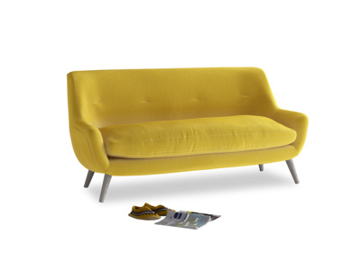 Medium Berlin Sofa in Bumblebee clever velvet