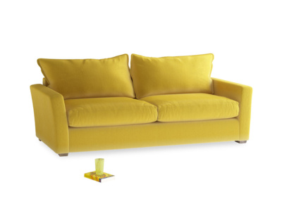 Large Pavilion Sofa Bed in Bumblebee Clever Velvet