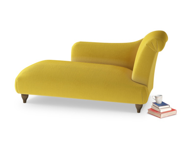 Right Hand Brontë Chaise Longue in Bumblebee clever velvet