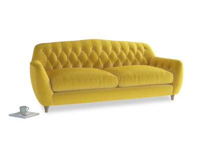 Large Butterbump Sofa in Bumblebee clever velvet