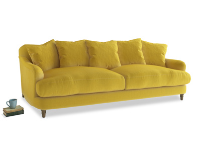 Large Achilles Sofa in Bumblebee clever velvet