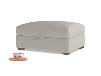 Bumper Storage Footstool in Smoky Grey clever velvet