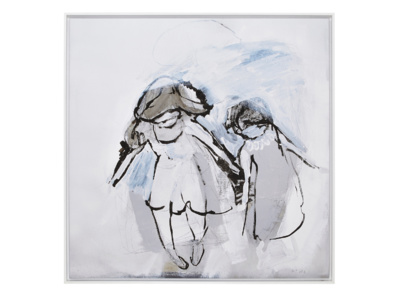 Hermit Girls Ben Lowe framed canvas art print