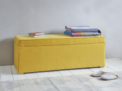 Eton Mess upholstered ottoman chest and storage box