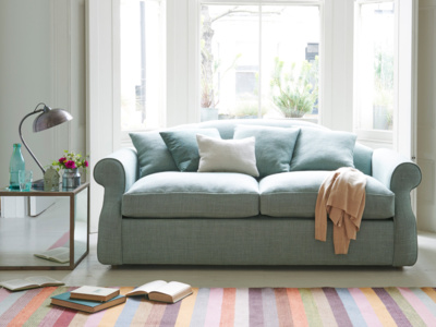 Double sloucher sofa bed in a contemporary style