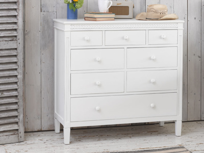 Ludo cool kids bedroom chest of drawers painted off-white