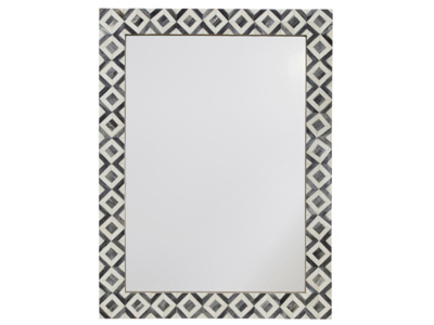 Bone inlay Banyan monochrome handmade wall mirror