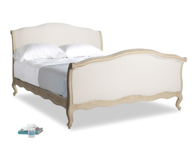 French sleigh luxury Antoinette upholstered bed