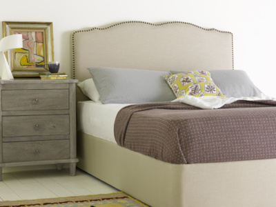 French style Marie studded upholstered headboard