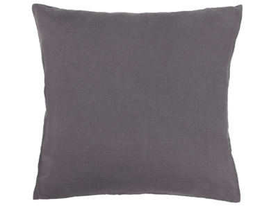 Scrunch Cushion in Charcoal Linen