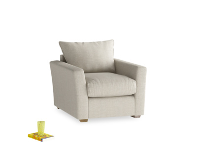 Comfy deep contemporary British made Pavilion armchair