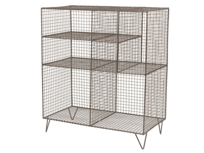 Wire metal industrial style Low Wire shelves