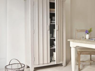 Handmade Rhubarb larder wooden kitchen cupboard