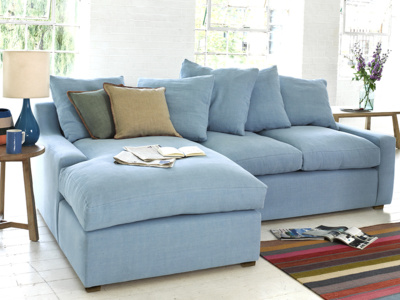 Cloud Chaise sofa with box edged cushions deep seated and extra comfy corner sofa