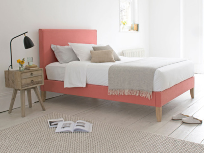 Contemporary style Piper upholstered bed