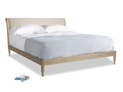 Superking Darcy Bed in Natural cotton linen mix