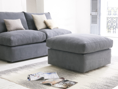 Upholstered Chatnap storage sofa footstool