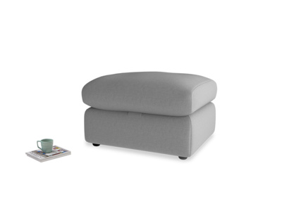 Chatnap Storage Footstool in Gun Metal brushed cotton
