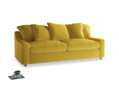Large Cloud Sofa Bed in Bumblebee clever velvet