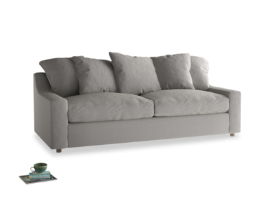 Large Cloud Sofa Bed in Wolf brushed cotton