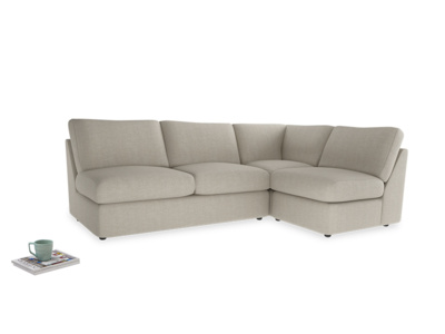 Large Right Hand Chatnap Modular Corner Sofa Bed in Thatch House Fabric with no arms