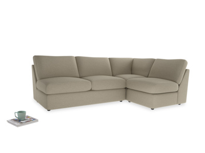 Large right hand Chatnap modular corner storage sofa in Jute vintage linen