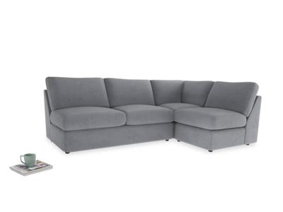 Large right hand Corner Chatnap modular corner storage sofa in Dove grey wool