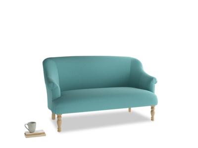 Medium Sweetie Sofa in Peacock brushed cotton