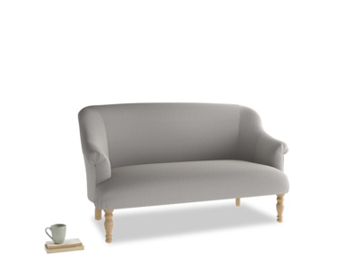 Medium Sweetie Sofa in Wolf brushed cotton