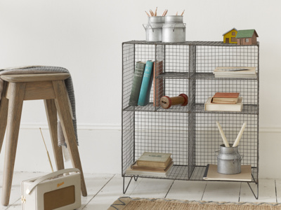 Low Wire practical industrial style wire shelving