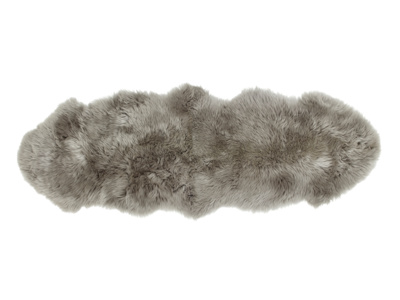 Sheepskin grey small fur fluffy Nuzzler runner