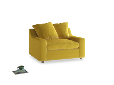 Cloud love seat sofa bed in Bumblebee clever velvet