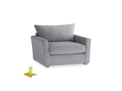 Pavilion Love Seat Sofa Bed in Dove Grey Wool