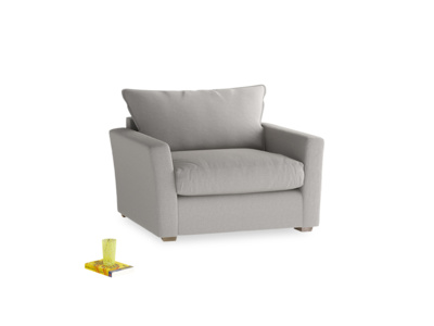 Pavilion Love Seat Sofa Bed in Wolf Brushed Cotton