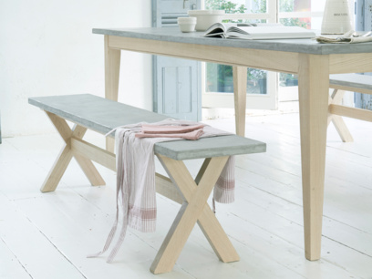 Lightweight incredibly practical Budge concrete kitchen bench