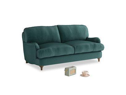 Small Jonesy Sofa in Timeless teal vintage velvet