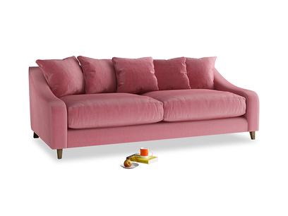 Large Oscar Sofa in Blushed pink vintage velvet