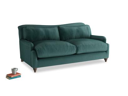 Medium Pavlova Sofa in Timeless teal vintage velvet