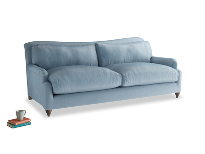 Large Pavlova Sofa in Chalky blue vintage velvet