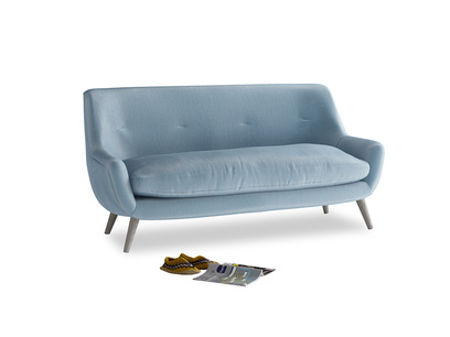 Medium Berlin Sofa in Chalky blue vintage velvet