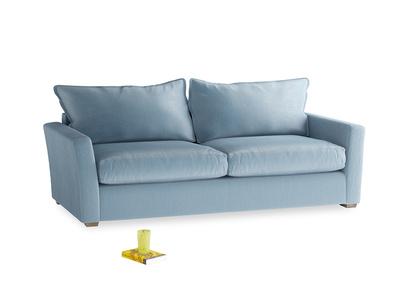 Large Pavilion Sofa Bed in Chalky Blue Vintage Velvet