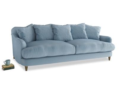 Achilles Sofa in Chalky blue vintage velvet