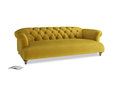 Large Dixie Sofa in Burnt Yellow Vintage Velvet